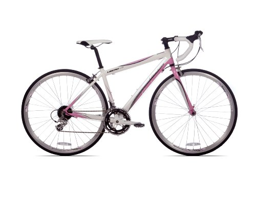 Giordano Libero 1.6 Women's Road Bike Bicycle 41cm - 16 Speed with 17 Inch - White/pink Bike