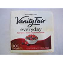 Vanity Fair Everyday Napkins 2-ply 100 Count (Pack of 2)
