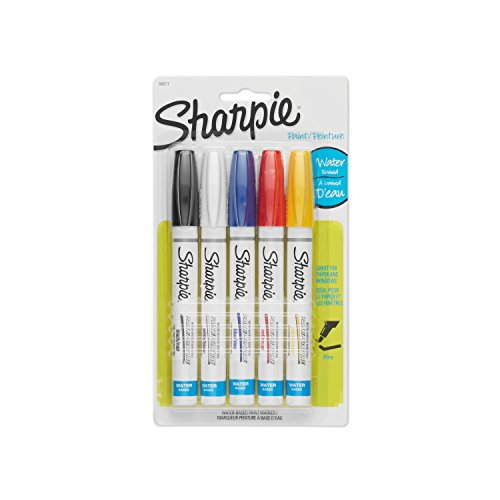 sharpie-36671-water-based-poster-paint-marker-assorted-colors-5-pack