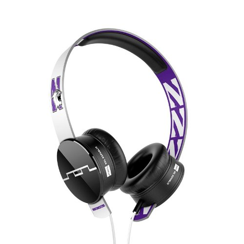 Sol Republic 1211-Nwu Collegiate Series Tracks On-Ear Headphones With Three Button Remote And Microphone - Northwestern University