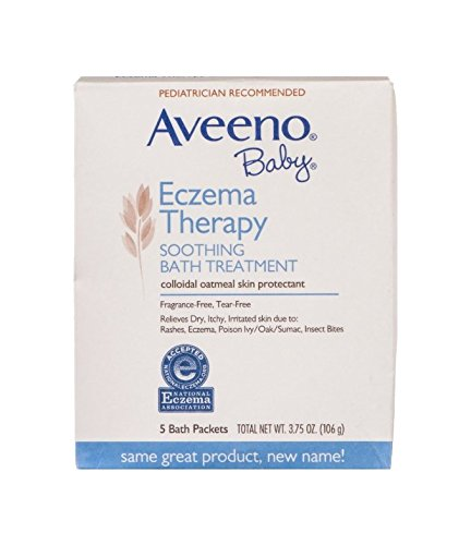 Aveeno Baby Soothing Bath Treatment Packets Eczema Therapy - 5 CT - 1