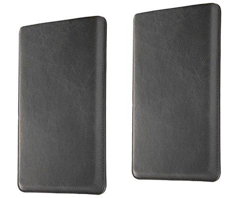 "NATUREL-EUROPE Tasche Samsung Notebook Serie 7 CHRONOS 700Z7C 17,3"" Notebook Ledertasche Laptop Leder Etui Schutz Case Notebooktasche Hülle Schutzhülle Laptoptasche Cover Schutztasche Designer Lederhülle Schwarz"