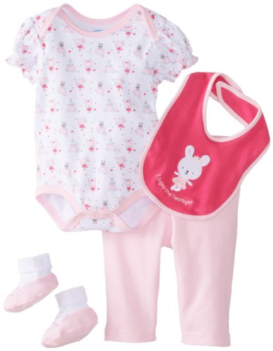 Bon Bebe Baby-Girls Newborn Enjoy The Spotlight Bodysuit And Legging Set, Multi, 0-3 Months front-1074292