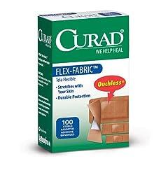 Curad CUR0700, Flex-Fabric Adhesive Bandages, Flex Fabric, Assorted/Multi