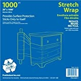 "Pratt Plus PRA3266011 Polyethylene Bundling Stretch Wrap with Extended Handle, 1000 Length x 20"" Width x 20.3 microns Thick, Clear"