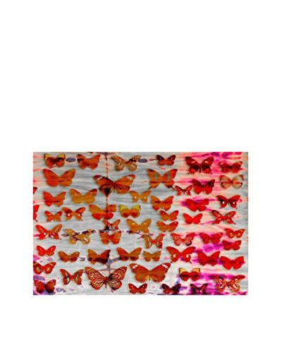 Parvez Taj Red Moths Canvas Wall Art