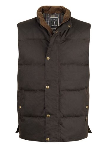 Jack Murphy Boyne Padded Wax Gilet True Black M