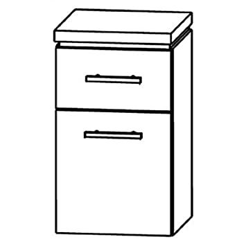 In UNA344A5M) Cool Line Cabinet Bathroom Furniture-40cm