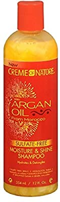 Creme of Nature Moisture & Shine Shampoo With Argan Oil From Morocco, 12 oz