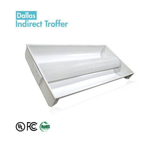 Ledi2 12-Idf-24-W Architectural Indirect Troffer 2'X4' Led Troffer Light Fixture(Not Including The Tubes)
