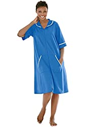 Dreams & Co. Women's Plus Size Hooded French Terry Short Robe