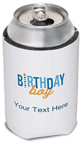 Vistaprint Blue Birthday Boy Koozies front-1003534