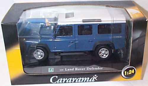 cararama-blue-and-white-land-rover-defender-124-scale-diecast-model