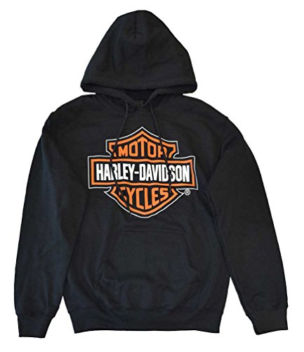 Harley-Davidson Men's Hooded Sweatshirt, Bar & Shield Logo, Black 30298035 (S)