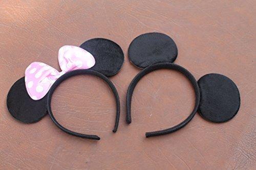 qualite-rembourre-mickey-et-minnie-mouse-oreilles-sur-un-bandeau-avec-le-rose-et-blanc-tachete-arche