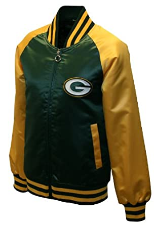 NFL Ladies Green Bay Packers Satin Team Spirit Jacket by MTC Marketing, Inc