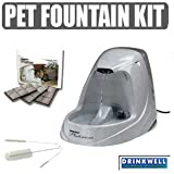 Drinkwell Platinum Pet Fountain Starter Set with Cleaning Kit and Replacement Filters ~ Drinkwell