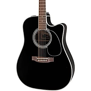 takamine ef341sc pro series dreadnought acoustic electric guitar black with case. Black Bedroom Furniture Sets. Home Design Ideas