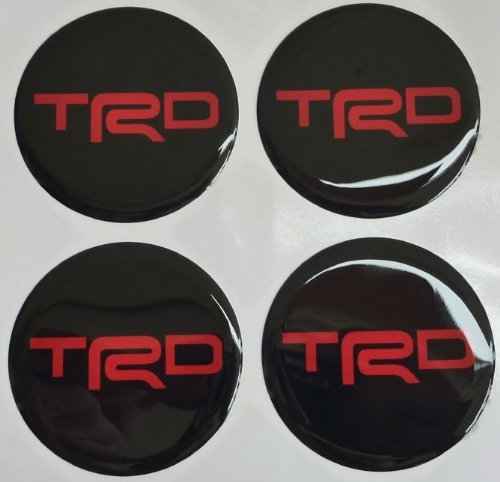 Toyota TRD 5.2 Cm Red Resin Sticker Decals Center Wheel Caps Cover Hub Rim 4 Pcs (Trd Resin compare prices)