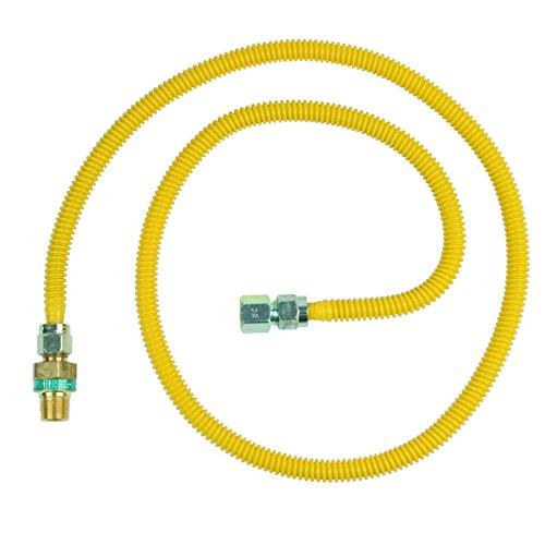 Brasscraft Cssd45E-60 P 1/2-Inch Mip Efv X 1/2-Inch Fip X 60-Inch Safety+Plus Gas Appliance Connector, 1/2-Inch Od 53,200 Btu