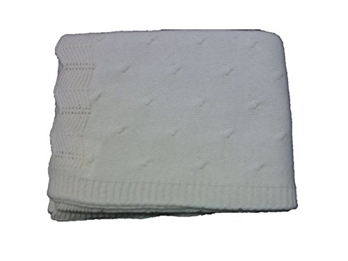 Cogy Babies Collection Hand Knited Blankets Comma Design (Ivory)