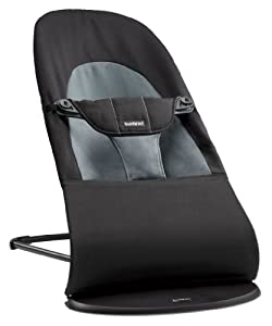 BABYBJORN Bouncer Balance Soft, Black/Dark Gray, Cotton