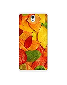 Sony Xperia C5 Ultra ht003 (156) Mobile Case from Mott2 - Multicolor Leaves (Limited Time Offers,Please Check the Details Below)