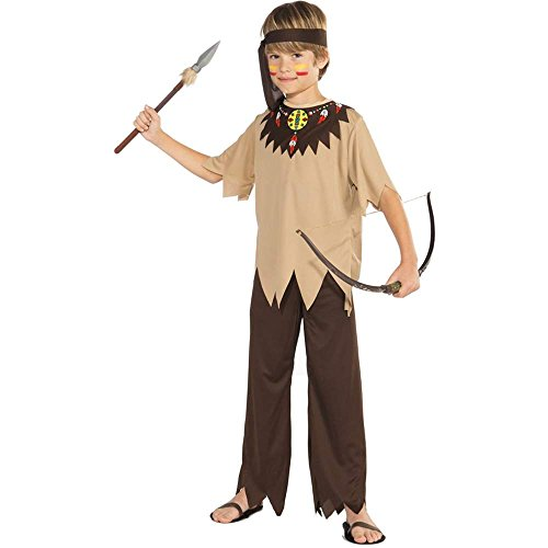 Native American Brave Costume, Child Medium