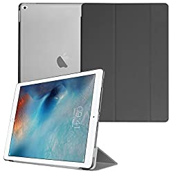 Smart Cover for Apple iPad Pro, Go Crazzy Translucent Back Flip Case for Apple iPad Pro 2015 Edition (Black)