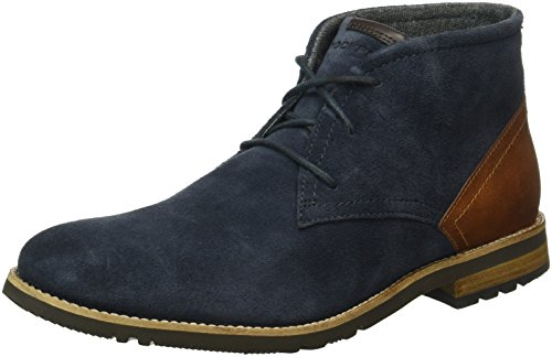 rockport-ledge-hill-too-laceup-chukka-bottes-mi-hauteur-non-doublees-homme-bleu-blau-new-dress-blues