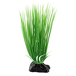 11.5Cm Height Green Plastic Artificial Water Plant Grass For Fish Tank