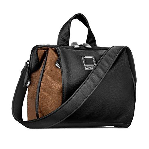 lencca-serie-damen-schultertasche-travel-oliv-top-griff-hand-tasche-schwarz