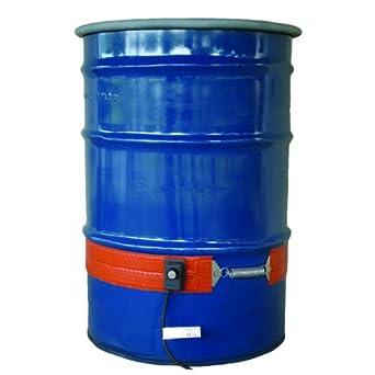 BriskHeat DPCS15 DPCS Standard Heavy Duty Poly Drum Heater, Fits 55-Gallon Poly Drums, 2-Layer Reinforced Silicone Rubber, W x L: 4 x 70-Inch, Diameter, 22.3-Inch, 120VAC