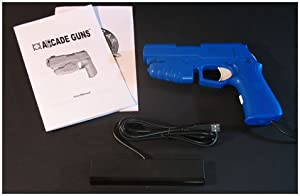 Starter Arcade Guns PC Light Gun Kit (Blue) - [White Buttons/Trigger] by Harbo Entertainment LLC