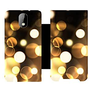 Skintice Designer Flip Cover with hi-res printed Vinyl sticker wrap-around for HTC Desire 326G