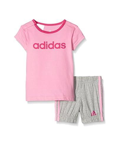 adidas Trainingsoutfit I SU Easy G Set rosa/grau