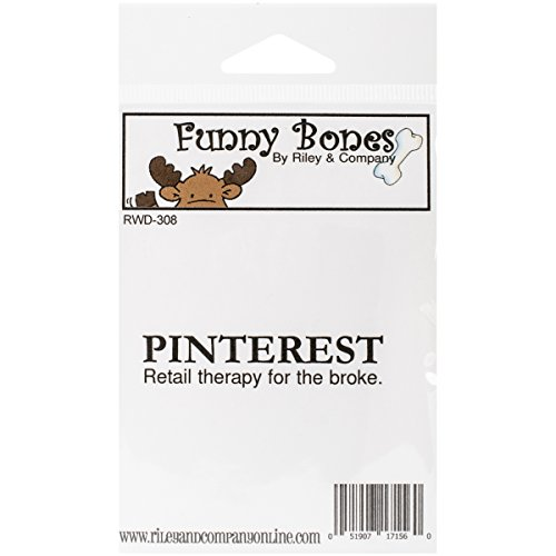 Riley & Company Funny Bones Cling Mounted Stamp, 2.5 by .5-Inch, Pinterest