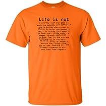 Life is Not.. Motocross T-Shirts - Orange - X-Large