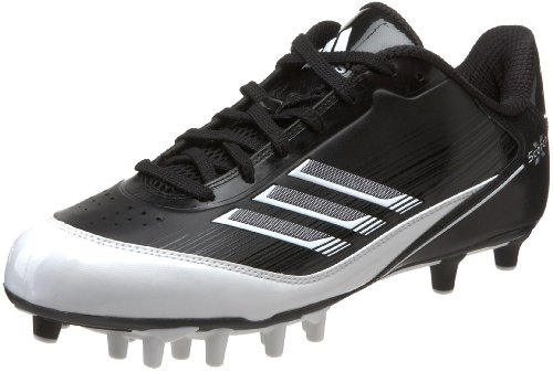 adidas Men's Scorch X SuperFly Low Football Cleat,Black/White/Metallic Silver,9 M US