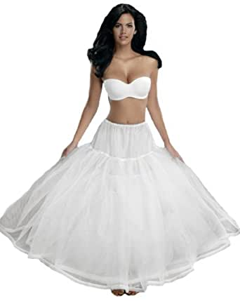 Merry Modes Mega Full Taffeta Petticoat Slip 8207D at Amazon Women's