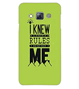 SAMSUNG GALAXY A3 RULES Back Cover by PRINTSWAG