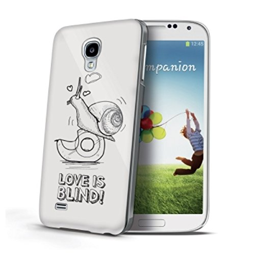 Celly Cover Love Is Blind per Galaxy S4, Lumaca, Bianco