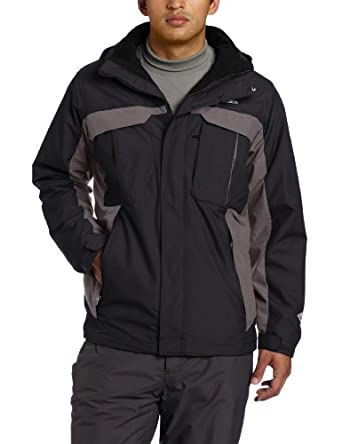 Columbia Men's Rare Earth Interchange Jacket, Black/Grill, X-Large