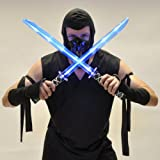 Deluxe Ninja LED Light up Sword with Motion Activated Clanging Sounds (2-Pack)