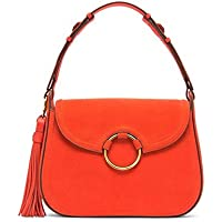 Tory Burch Tassel Large Shoulder Bag (Pure Orange)