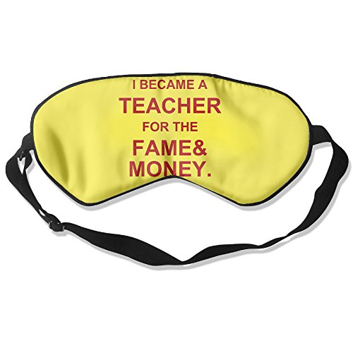 [WLHZQS I Became A Teacher For The Fame And Money Natural Silk Eye Mask (without Ice Bag)] (Dead Poets Society Costume)
