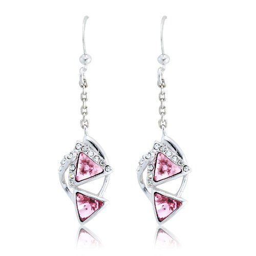 Maskerade Swarovski Crystal Earrings - Pink
