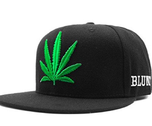 Marijuana-Weed-420-Leaf-3D-Embroidered-Printed-Adjustable-Hat-SnapbackBlackGreen