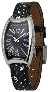 Bedat Women's BDT394.010.303 Number Three Black Dial Watch from Bedat & Co