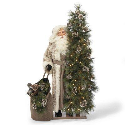 Metallic Christmas Joy Santa Figure